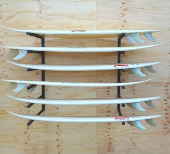 GF146H – WALL MOUNTED SURFBOARD RACK